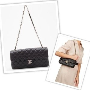Chanel Classic Caviar Leather Bag